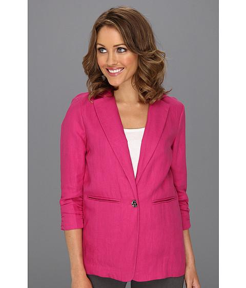 Jachete Michael Kors - Petite Linen Shirred BF Jacket - Radiant Pink