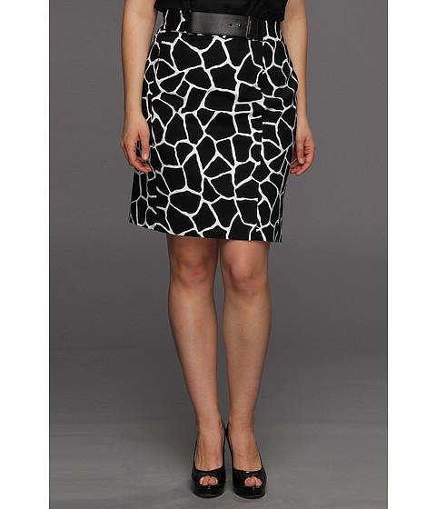 Fuste Michael Kors - Plus Size Mod Giraffe Pencil Skirt - Black
