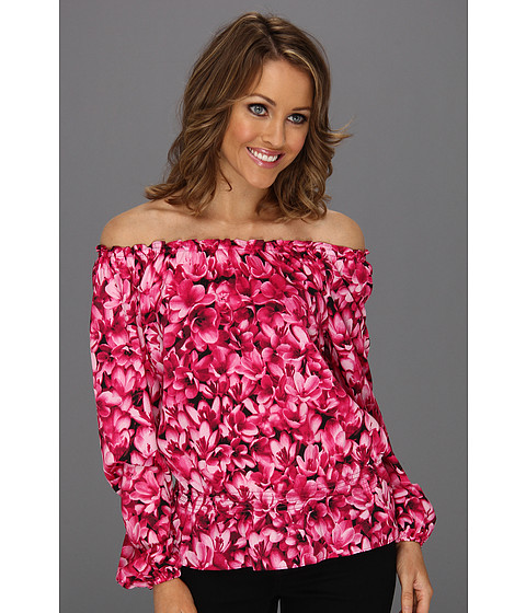 Bluze Michael Kors - Petite Wildflower Peasant Top - Radiant Pink