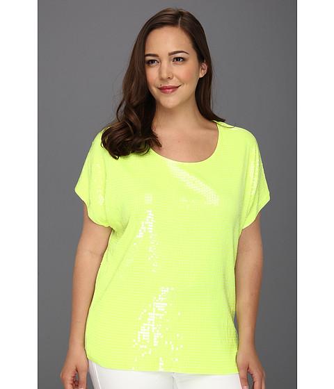 Tricouri Michael Kors - Plus Size Short Sleeve Sequin Dolman Top - Cdmium Yellow