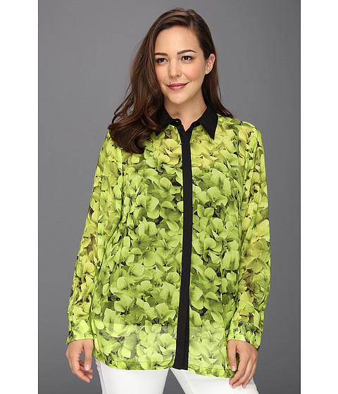Bluze Michael Kors - Plus Size Structured Contrast Blouse - Kiwi