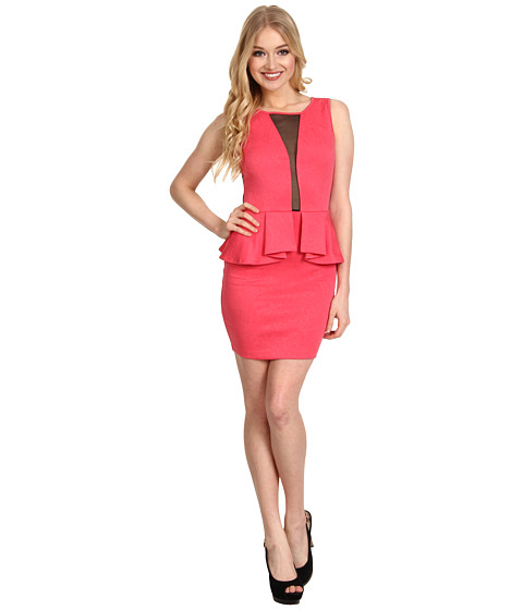 Rochii Type Z - Omega Scuba Dress - Coral