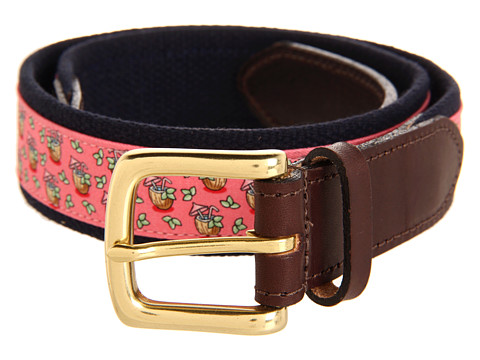 Curele Vineyard Vines - Coconut Drink Canvas Club Belt - Raspberry