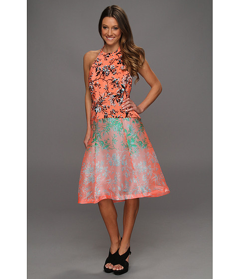 Rochii Nanette Lepore - Sound Art Dress - Coral Multi
