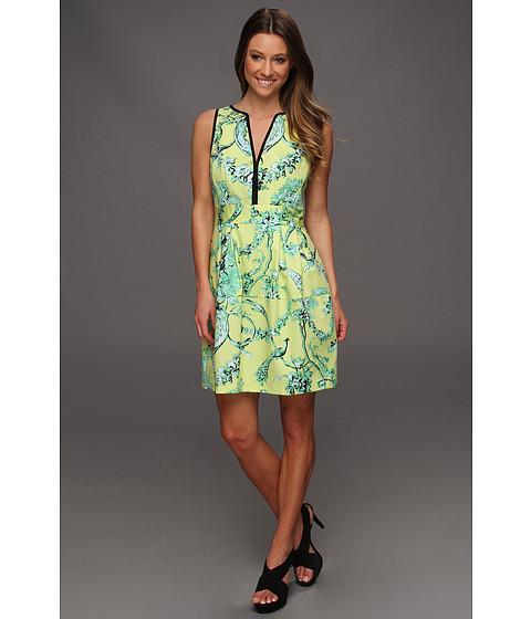 Rochii Nanette Lepore - Tec-Porcelian Dress - Lime Multi
