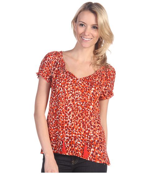 Bluze Lucky Brand - Safi Mayan Cheetah Top - Grenadine Multi