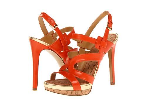 Pantofi Nine West - Breezin - Orange Leather