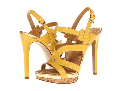 Pantofi Nine West - Breezin - Yellow Leather