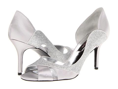 Pantofi Nina - Forever - Silver Satin