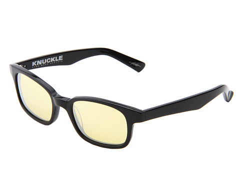 Ochelari Electric Eyewear - Knuckle (Loveless Collection) - Gloss Black/Yelolw Silver Chrome