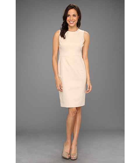 Rochii Anne Klein New York - Crew Neck Sheath Dress - Suntan