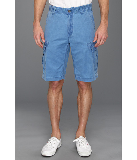 Pantaloni Calvin Klein - Linen/Cotton Cargo Shorts - Snorkel Blue