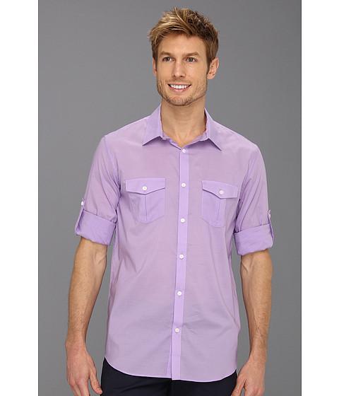 Tricouri Calvin Klein - Roll-Up Sleeve Yarn Dye Chambray Voile L/S Woven Shirt - Iris