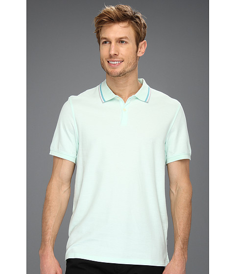 Tricouri Calvin Klein - S/S 2 Button 50s/1 Pique Polo - Pale Stem