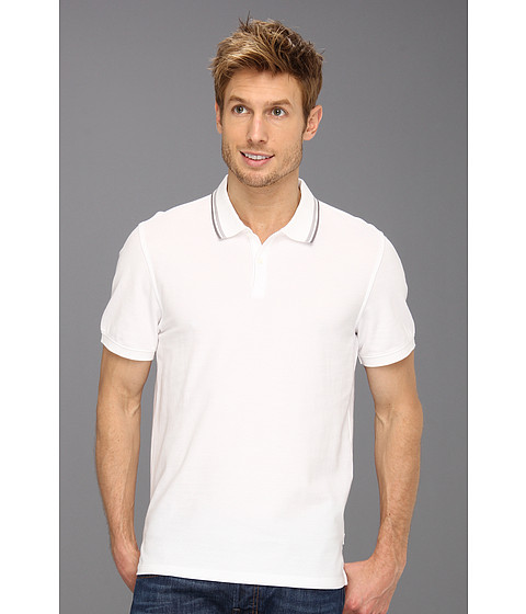 Tricouri Calvin Klein - S/S 2 Button 50s/1 Pique Polo - White