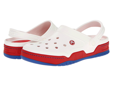 Sandale Crocs - Front Court Clog - White / Red