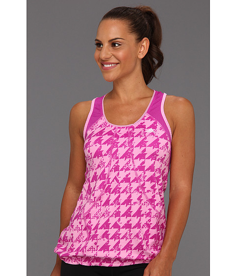 Tricouri adidas - PowerLuxe Houndstooth Tank - Bliss Orchid/Vivid Pink