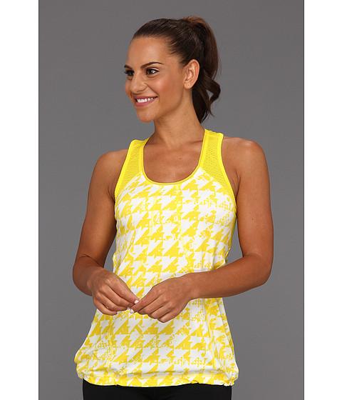 Tricouri adidas - PowerLuxe Houndstooth Tank - Vivid Yellow/White