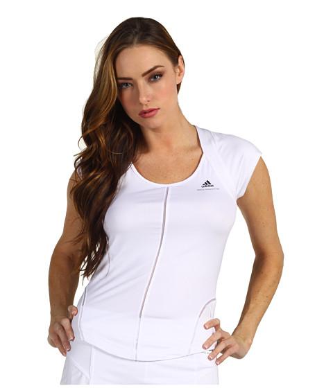 Tricouri adidas - Stella McCartney - barricade Cap-Sleeve - White/Platinum