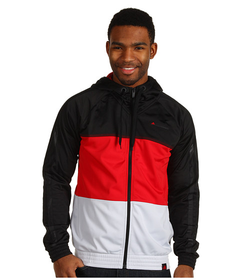 Jachete adidas - Fat Stripes Jacket - Black/Light Scarlet/Light Grey