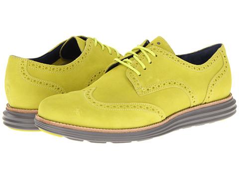 Adidasi Cole Haan - LunarGrand Wingtip - Volt Suede/Ironstone
