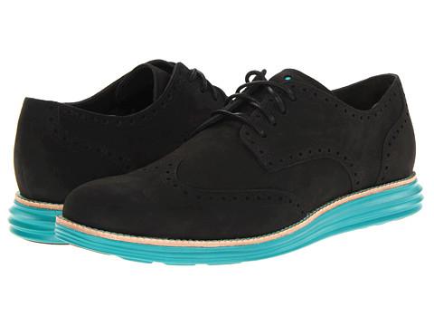 Adidasi Cole Haan - LunarGrand Wingtip - Black Suede/Volt