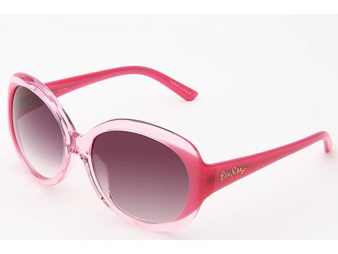 Ochelari Lilly Pulitzer - Jenna - Pink Crystal/Hibiscus Pink Pearl/Gradient Smoke