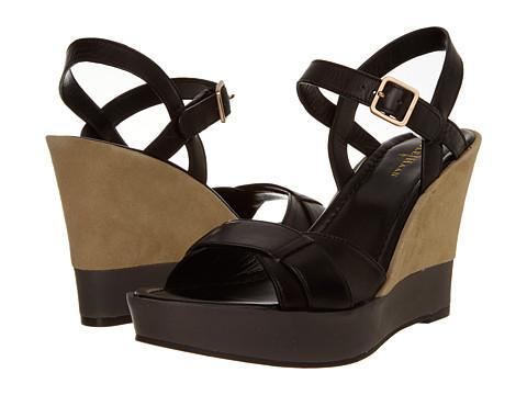 Sandale Cole Haan - Paley High Wedge - Black/Summer Khakis Suede