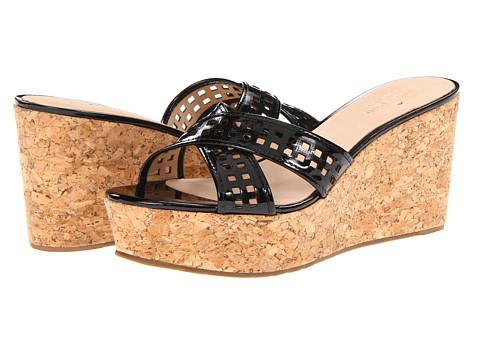 Sandale Kate Spade New York - Tawny - Black Patent/Natural Cork Wedge