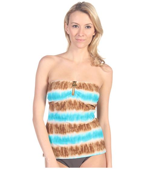 Costume de baie MICHAEL Michael Kors - Tribal Stripe Bandini Top - Tile Blue