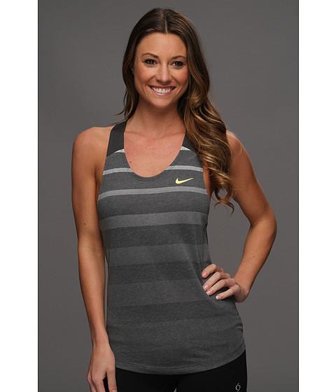 Tricouri Nike - Dri-Fit Cotton Stripe Tank - Anthracite/Electric Yellow/Electric Yellow