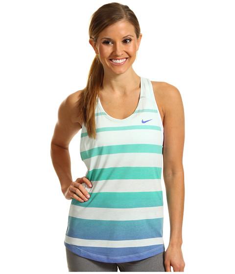 Tricouri Nike - Dri-Fit Cotton Stripe Tank - Fiberglass/Violet Force/Violet Force