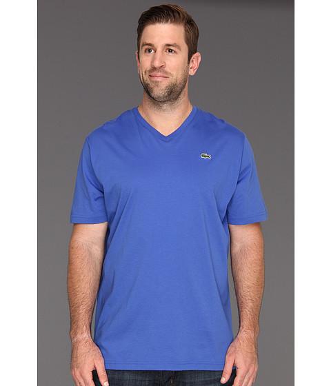 Tricouri Lacoste - Big S/S Jersey V-Neck T-Shirt - Obscure Blue