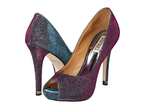 Pantofi Badgley Mischka - Humbie IV - Dark Grey/Plum Fabric