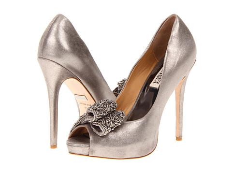 Pantofi Badgley Mischka - Vonda - Pewter Metallic Suede