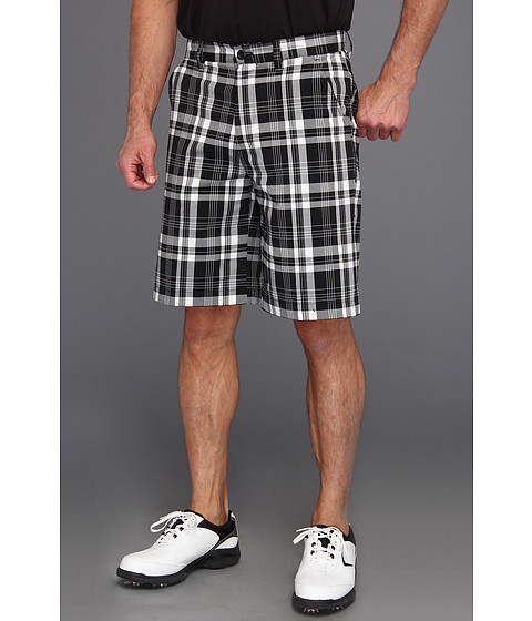 Pantaloni IZOD - IZOD Perform X Golf Short Flat Front Plaid - Caviar