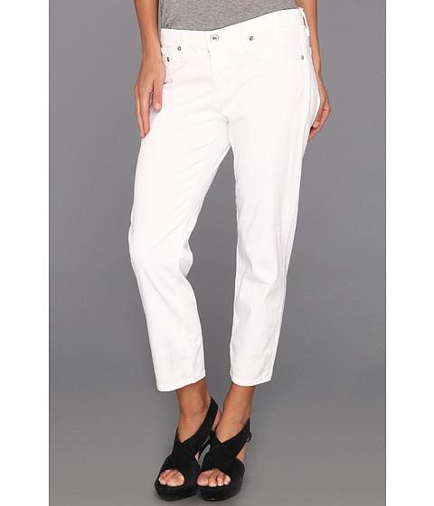 Pantaloni AG Adriano Goldschmied - Stilt Crop Stretch Sateen - White