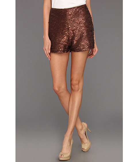 Fuste Dolce Vita - Kiara Copper Sequin Highwaisted Short - Copper