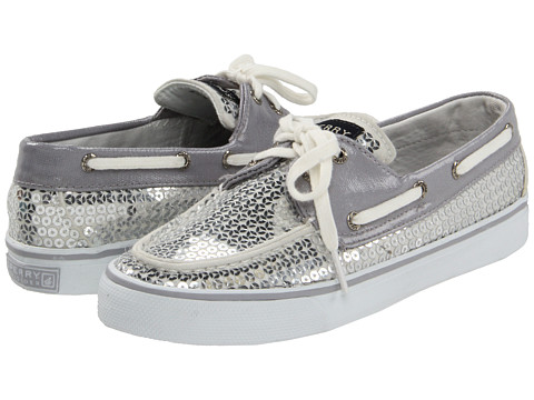 Pantofi Sperry Top-Sider - Bahama 2-Eye - Silver Sequins