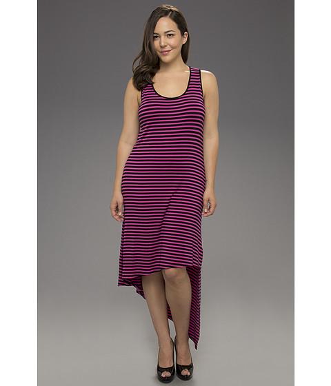 Rochii Michael Kors - Plus Size Jardin S/L Asymmetrical Dress - Neon Pink