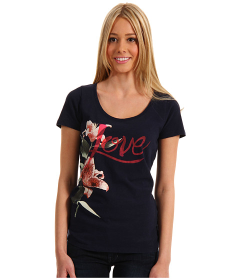 Bluze Lucky Brand - Love Message Tee - American Navy