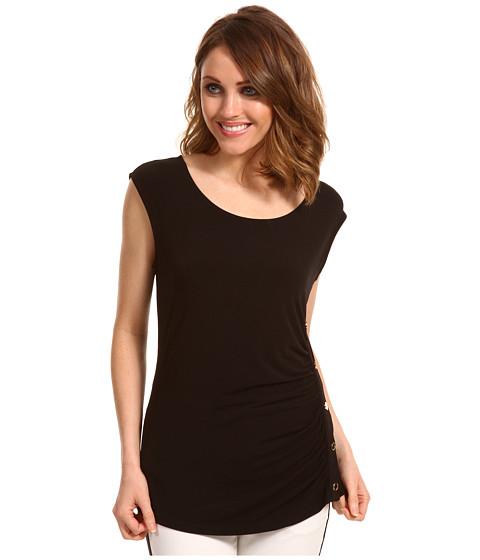 Tricouri Calvin Klein - Sleeveless Side Smock Top - Black
