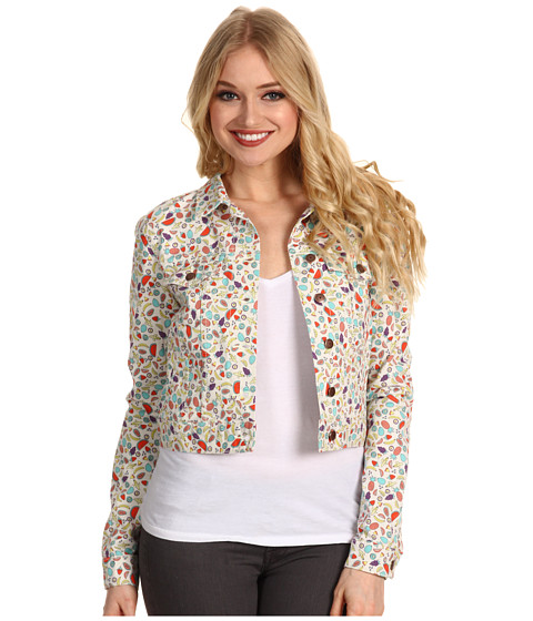 Jachete BCBGeneration - Cropped Denim Jacket - Cream Combo
