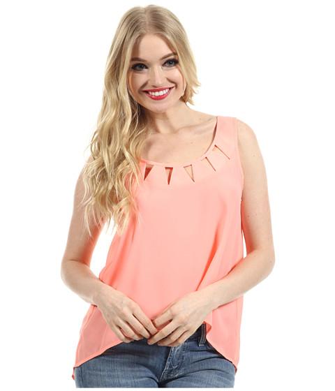 Bluze BCBGeneration - Cutout Neck Sleeveless Top - Flash Pink