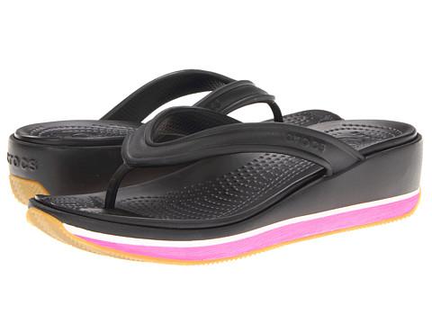 Sandale Crocs - Retro Flip Wedge - Black/Fuchsia