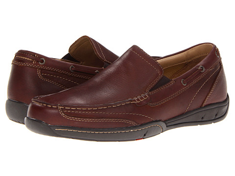 Pantofi Johnston & Murphy - Angler Slip-On - Mahogany Water-Resistant Full Grain