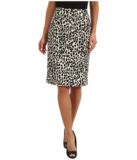 Fuste Calvin Klein - Hi Waist Skirt - Black/True White Combo/Cheetah Spots