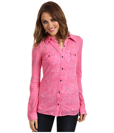 Camasi Roper - Free Spirit Stretch Floral Burnout - Pink
