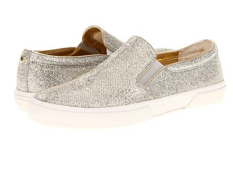 Adidasi Michael Kors - Boerum Slip On - Silver Glitter