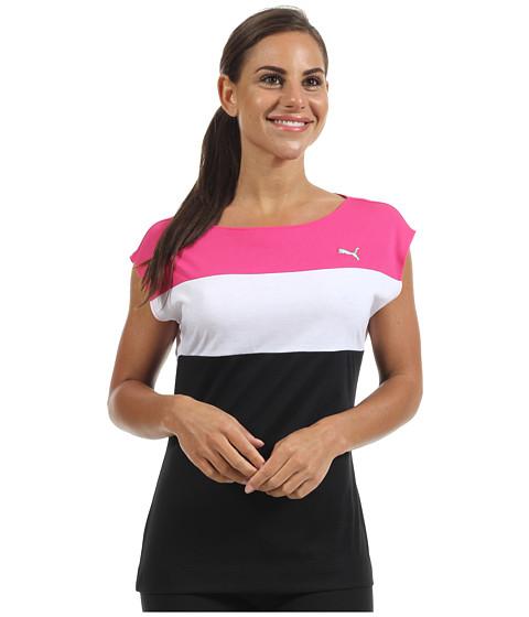 Tricouri PUMA - Short Sleeve Colorblock Top \13 - Black